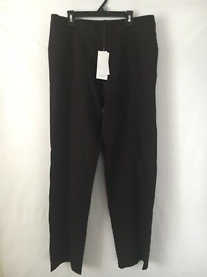 Eileen Fisher Womens Large Straight Leg Pants Pull On Stretch Rayon Blend NWT!!