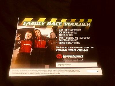 TeamSport Go Karting Voucher & 4 Balaclavas - Open Time Race For 4 People