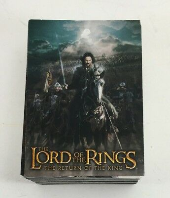Lord of the Rings Cards Topps 2003 The Return of the King 90 card COMPLETE set