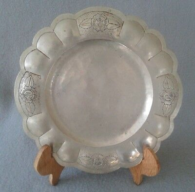 Very Rare 18th Century Spanish Colonial 700 Silver Dish Marked