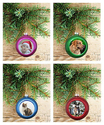 Personalised Christmas Tree Ball Bauble Decoration Hanging Brand New Gift