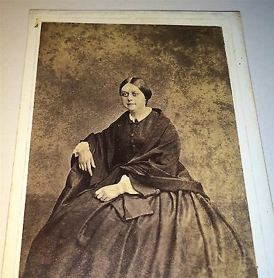 Antique Victorian Fashion Woman! Tired Raccoon Eyes! Brooklyn, NY CDV Photo! Old