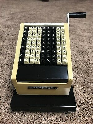RARE VINTAGE BURROUGHS CHECK WRITING MACHINE MODEL T8409. Good Condition!!!
