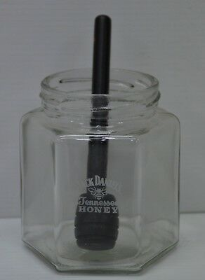 Jack Daniel's Tennessee Honey Brand New Glass Honey Pot & Plastic Stirrer Stick