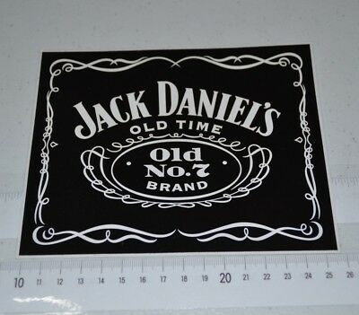 Jack Daniel's Old No.7 Brand Old Time Brand New Black & White Decal Sticker