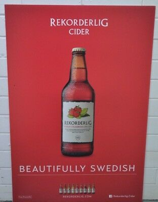 Rekorderlig Swedish Cider Brand New Double Sided Advertising Corflute Sign