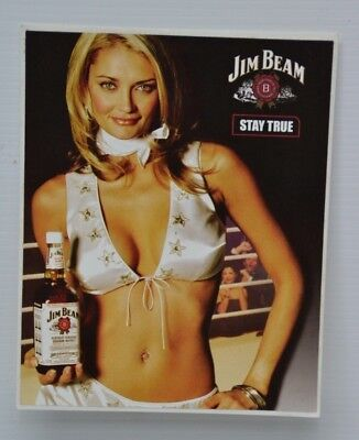 Jim Beam Bourbon Stay True Brand New Decal Sticker For Home Bar Collector