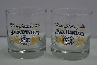 Jack Daniel's Old No.7 Brand Tennessee Whiskey Brand New Set Of 2 Spirit Glasses