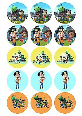 Edible Cupcake Toppers RUSTY RIVETS pre cut - Highest Australian Quality