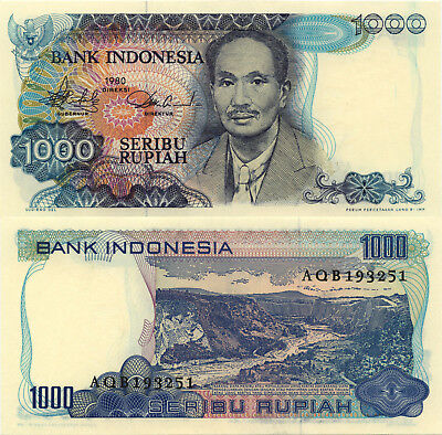 Indonesia 1000 Rupiah (1980) - Doctor/Sianok Valley/p119 UNC