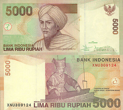 Indonesia 5000 Rupiah (2008) - Woman working Loom/p142h UNC