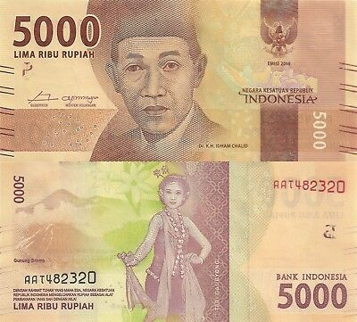 Indonesia 5000 Rupiah (2016) - New Series Issue/p156 UNC