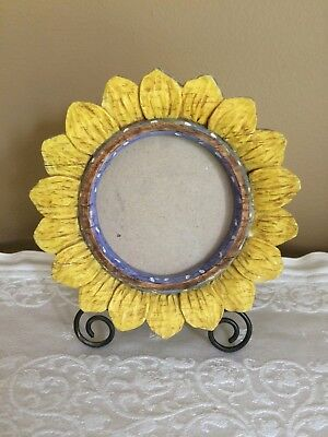 Sunflower Shaped Table Top Picture Frame Russ Berrie & Company
