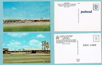 Bowie TX, (Montague Co.) Same Motel, 2 names, 3 diff cards (3204)