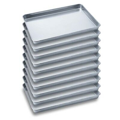 SOGA 10 x Aluminium Oven Baking Pan Cooking Tray for Baker Gastronorm 60*40*5cm