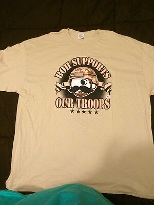 Natty Boh Armed Forces T-Shirt - Sz Small Or Medium Only - Khaki  Color