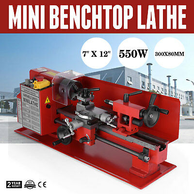 7 x 12 Inch Metalldrehmaschine Mini-Drehmaschine 550W Metalworking Metal Lathe