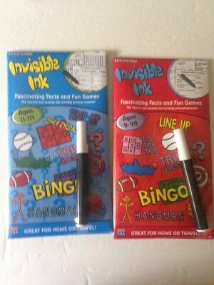 Yes & Know Invisible Ink Fascinating Facts & Fun Games Lot Of 2