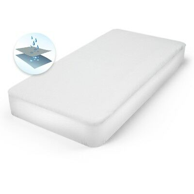 Mattress protector topper waterproof bed cover cotton PU pad 160x200 cm white