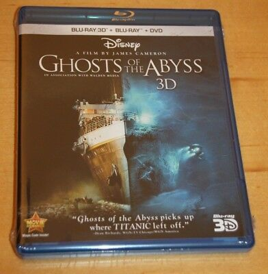 Ghosts of the Abyss 3D (Three-Disc Combo: Blu-ray 3D/2D/DVD) Brand New/Sealed