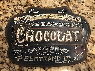 Vintage Style French Chocolate sign
