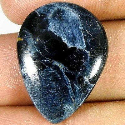 16.00Cts. 100% NATURAL POWER PIETERSITE PEAR CABOCHON UNTREATED LOOSE GEMSTONE