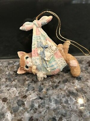 Enesco Calico Kittens Baby's First Christmas Girl's Ornament #628255 FREE SHIP