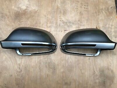 Matt Chrome Side Mirror Cover Cap for Audi B8 A3 A4 A5 A6 Q3 S4 S6 RS6 Genuine
