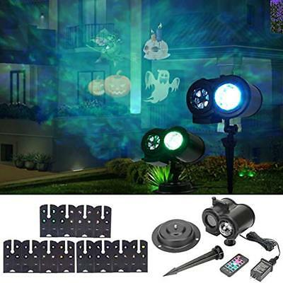 Water Wave Projector Light, Remote Control LED Lamp With 12 Slides Pattern, In
