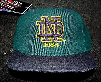 1990s NOTRE DAME VINTAGE NEW ERA 100% WOOL 5950 PRO MODEL TWO-TONE FITTED CAP
