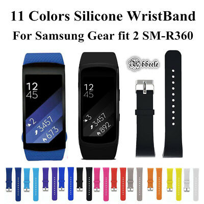 Sport Silicone Replacement Watch Wrist Strap Band For Gear Fit2 SM-R360