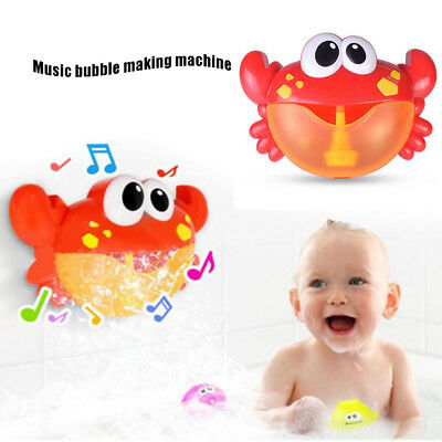 Automated Spout Baby Bath Bathtup Shower Toy Crab Bubble Machine Musical Maker