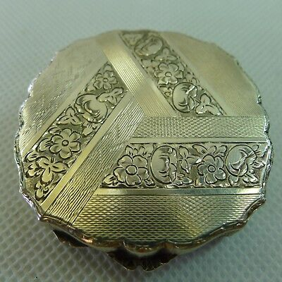 rare stunning old hinged lid solid silver box very highly detailed engraved