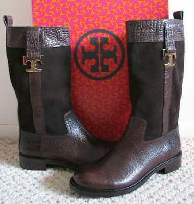 80a64d97bdb0 ... aliexpress tory burch corey boots 7.5 crocodile embossed leather suede  mid calf c6b1d 4ed7e