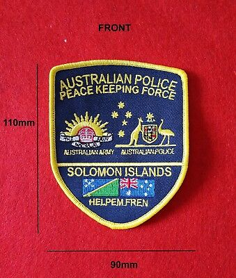 Australian Police Peace Keeping Force Solomon Islands Patch (social)