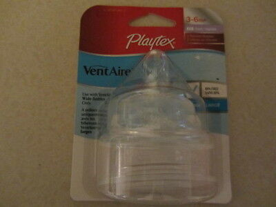 Playtex Ventaire Silicone Fast Flow Nurser 3-6M+ (Total 4)