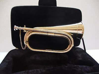 Militaria Excellent Us British Army New Bugle Free Case+M/p 5 Days Delivery