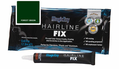 MagicEzy Hairline Fix (Forest Green) : Gelcoat Repair for CRACKS & SCRATCHES