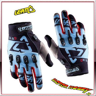 Guanto Glove Cross Enduro Quad Leatt Gpx 3.5 Lite Black Blue Taglia M