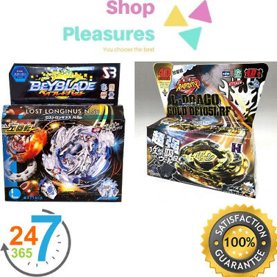 2 Package Beyblade B-66 Lost Longinus Luinor ,L-DRAGO GOLD  4D TOP USA SELLER