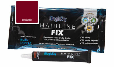 MagicEzy Hairline Fix (Burgundy) Fill & Color Gelcoat Scratches & Cracks