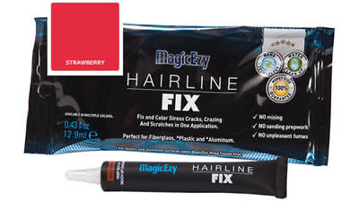MagicEzy Hairline Fix (Strawberry). Gelcoat Repair for Cracks & Scratches