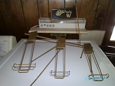 Vintage Wire Mercury Shoe Display Rack Advertising Display Shelf