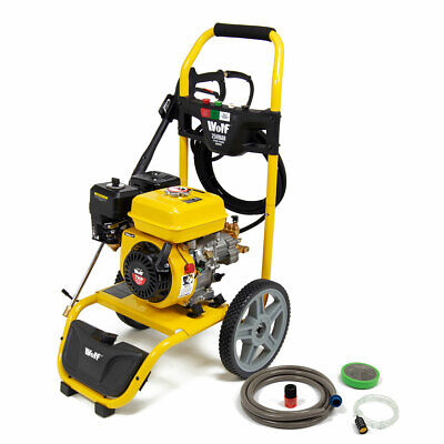 Petrol Pressure Washer 3700psi 250bar 7HP Petrol Driven Jet Power Washer Wolf
