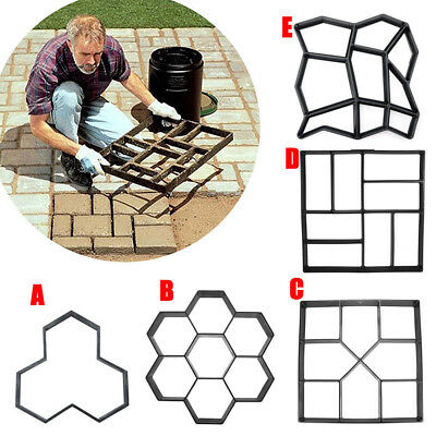 Garden Paving Pavement Mold Patio Concrete Stone Path Walk Maker Reusable Mould