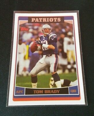 Tom Brady New England Patriots #150 Topps 2006 NFL Football Trading Card