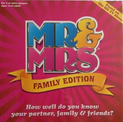 Mr & Mrs Board Game New/sealed Family Edition Based On The T.v Show 2+ Players