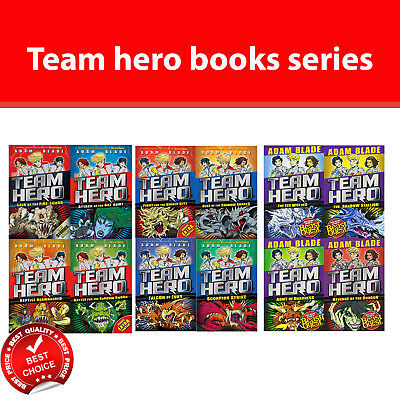 Team Hero series (1-3) collection Adam Blade 12 books set Children's Pack NEW