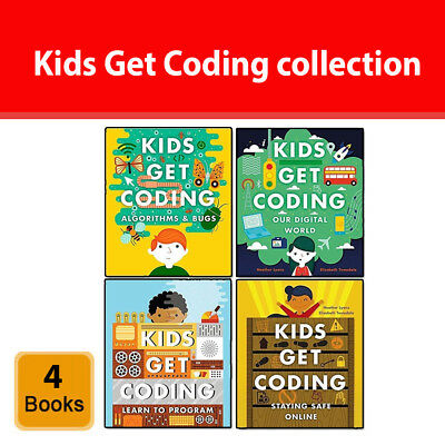Kids get coding collection 4 books set by Heather Lyons, Elizabeth Tweedale NEW