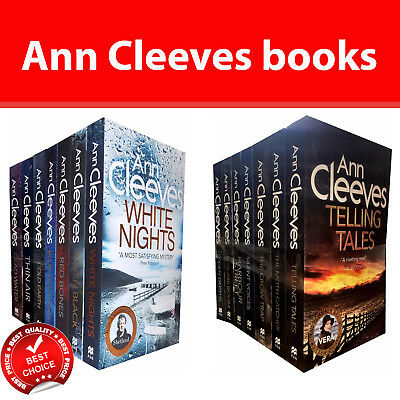 Ann Cleeves Shetland and Vera Stanhope Series Collection 14 Books Set pack NEW